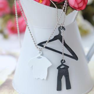 Fashion On Hanger Double Chain Necklace