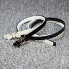 Bow Faux Leather Slim Belt