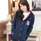 B Print Hooded Jacket