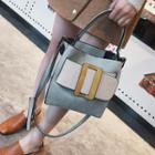 Buckle Tote With Shoulder Strap