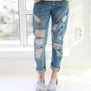 Distressed Harem Jeans