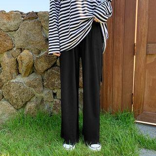 Band-waist Ribbed Lounge Pants