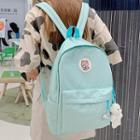Cartoon Applique Zip Backpack
