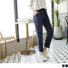 Drawcord Straight Leg Pants