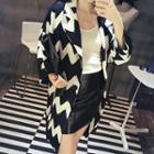 Patterned Long Jacket
