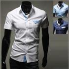 Short-sleeve Contrast Trim Shirt
