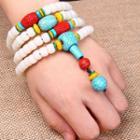 Layered Turquoise Bead Bracelet