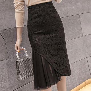 Mermaid Pencil Midi Skirt