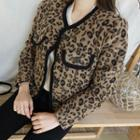 Round-neck Leopard Jacket