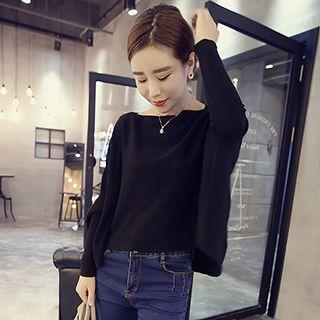 Batwing Long Sleeve Knit Top