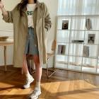 Hooded Layered-front Parka