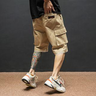 Mock Two-piece Cargo Shorts