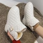 Quilted Faux Leather Snow Boots