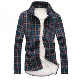 Fleece-lined Check Shirt