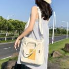 Canvas Two-tones Shoulder Bag
