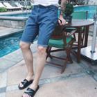 Fray-hem Cropped Pants