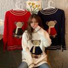 Long-sleeve Bear-print Sweater