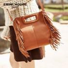 Genuine Leather Fringe Hand Bag