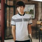 Short-sleeve Stripe-detail Polo Shirt