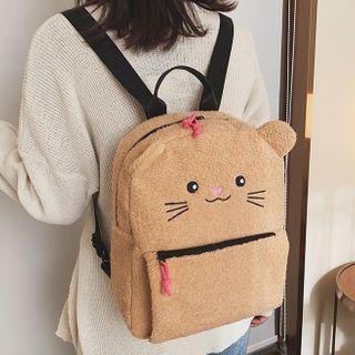 Cat Fleece Backpack
