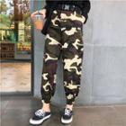 Cropped Camouflage Pants As Shown In Figure - One Size