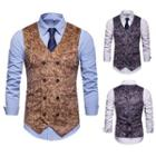 Animal Print Double Breasted Vest