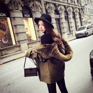 Faux Fur Hooded Long Coat