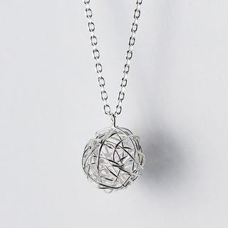 Metallic Ball Pendant Necklace