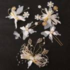 Set: Flower Hair Clip / + Butterfly Hair Stick