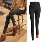 Fleece-lined Pattern Skinny Pants