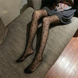 Printed Bow Stockings