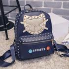 Studded Cat Polka Dot Backpack