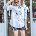 Embroidery Denim Shirt