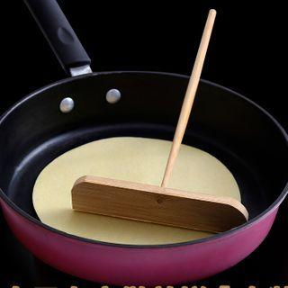 Bamboo Pancake Spreader / Dough Scraper / Silicone Brush / Set