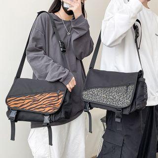 Patterned Messenger Bag