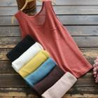Pocketed Knit Tank Top