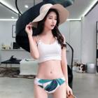 Set: Printed Bikini + Shorts + Beach Cover-up