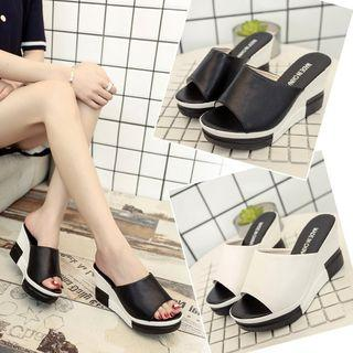 Wedge-heel Platform Slippers