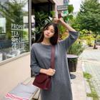 Wool Blend Long Knit Dress