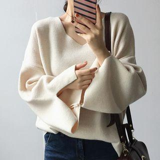 Boxy Slit-sleeve Sweater
