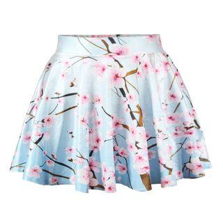 Floral A-line Mini Skirt As Shown In Figure - One Size