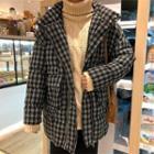 Hooded Plaid Padded Coat