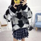 Crew-neck Printed Sweater