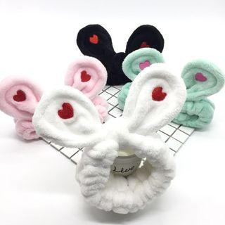 Chenille Heart Animal Ear Face Wash Headband