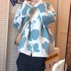 Pattern Long-sleeve Cardigan