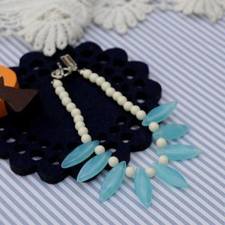 Glass Beads Bracelet(skyblue)