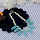 Glass Beads Bracelet(skyblue)