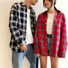 Couple Matching Long Sleeve Plaid Shirt