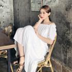 Off-shoulder Tiered Long Dress