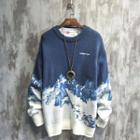 Scenery Print Sweater